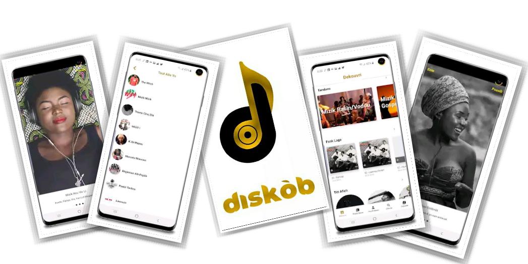 Identité visuelle de Diskòb Mizik